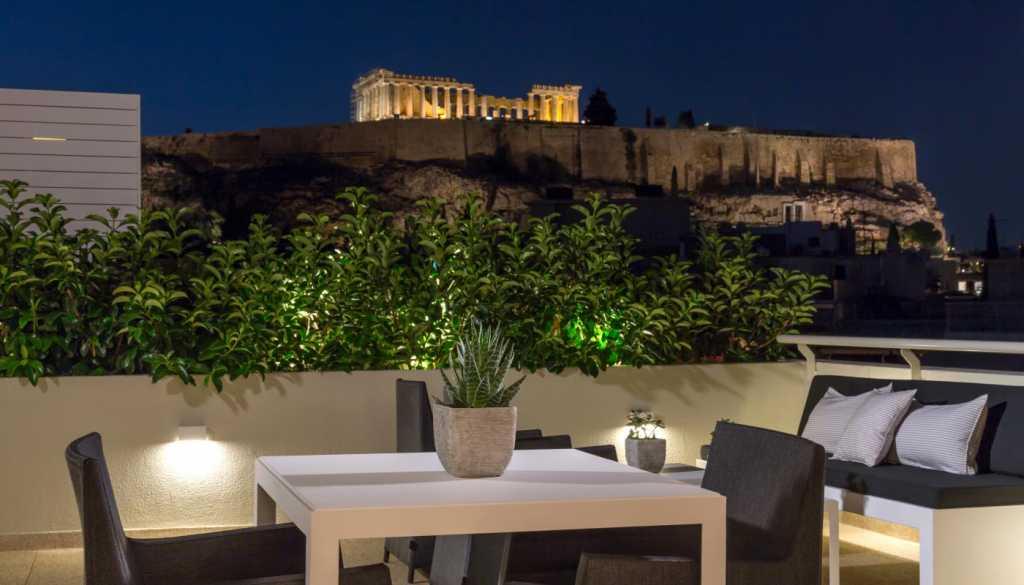 Divani Palace Acropolis - Acropolis Terrace Suite - Balcony with Acropolis View